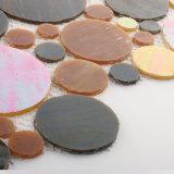 Gefärbt ringsum Glasmosaik Backsplash kupferne Mosaik-Fliese für Verkauf
