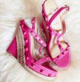 Chaussures cloutées de santals de corde de la clavette des dames