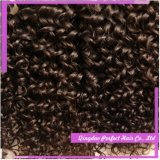 バージンの毛のWeftedの厚く、きれいなインドの人間の毛髪インド