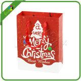Promocional logotipo personalizado de papel de Navidad cesta de la compra