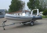 De Vissersboot van Aqualand 16feet 4.7m/de Stijve Opblaasbare Boot van de Motor/de Boot van de Rib (rib470b)