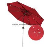 зонтик патио u сада 2.7m /9FT круглый СИД напольный с солнечным зонтиком СИД