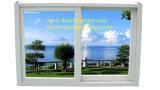 Ventana de desplazamiento de aluminio de la rotura termal con la ventana de deslizamiento de Electri de las persianas del vidrio ambiental incorporado de la doble vidriera