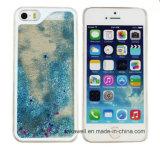 Concevoir la caisse liquide Shinning colorée de couverture arrière du sable mouvant TPU+PC de sable d'étoile pour l'iPhone 5 cas du téléphone mobile 6 6s