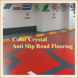 Colorear el suelo antirresbaladizo cristalino del camino con el agregado cristalino coloreado