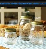 Варенья хранения еды кухни Сбор винограда-Типа опарникы каменщика стеклянного консервируя