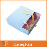 Doos van de Verpakking van de Gift van de Lade van de Laminering van de fabriek de In het groot met het Handvat van het Lint