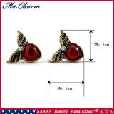 Oorringen van de Nagel van het Bergkristal van het Hart van de vleugel de Blauwe Rode voor de Juwelen van de Manier van Vrouwen