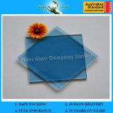 3-12mm farbige reflektierende Kategorie und freier Raum schwimmen blaues Glas mit AS/NZS2208: 1996