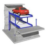 Elevador do estacionamento do carro de borne quatro