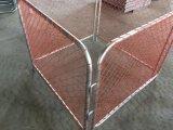 Померанцовые барьеры конструкции ткани звена цепи сетки 1100mm x 3000mm