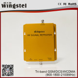 2g 3G 4G 900/1800 / 2100MHz Amplificateur de signal mobile Tri Band