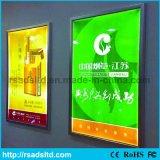 Marco delgado del cartel del LED que hace publicidad del rectángulo ligero