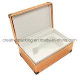 عادة [بو] جلد عطر خشبيّة يعبّئ صندوق