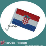 Polyester promotionnel Car Flag avec Plastic Polonais, National Flag