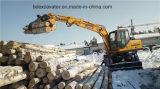 Cargador de madera de la caña de azúcar del cargador Bd95 del nuevo de la rueda gancho agarrador de la madera