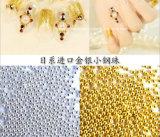 Mini granos 0.8mm 1mm 1.5mm 2mm Oro Plata Caviar Ronda 3D del clavo del arte del metal perlas de caviar