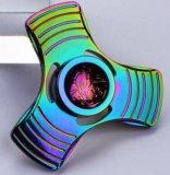 Цветастые игрушки понижения давления гироскопа перстов листьев обтекателя втулки 3 руки