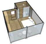 ISO 기준 강철 구조물 편평한 팩 콘테이너 집