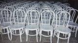 Solid blanco Wood Thonet Chair para Wedding