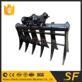Pièces de machines de construction pour le râteau de fond d'excavatrice d'inclinaison d'excavatrice d'outil de compensation