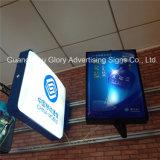 Grand dos/cadre léger de publicité thermoformé rectangulaire