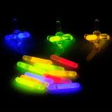 Os brinquedos 12 PCS Showbox do fulgor embalaram 1 do '' giroscópio do plástico fulgor