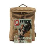Backpack компьтер-книжки мешка школы кожи смешивания холстины цены хорошего качества дешевый