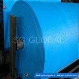 Tela tejida geotextil azul del polipropileno de la fábrica