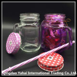 каменщик Jar 450ml Purple Colored Glass