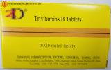西部の薬のビタミンBは上塗を施してあるB1 B6 B12の良質GMP Anhypniaの不眠症のColorectal蟹座を錠剤にする