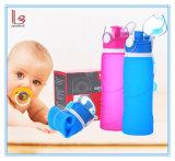 Оптовые новые складывая бутылки воды 750ml пластмассы силикона