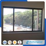 Окно термально двойника пролома стеклянное алюминиевое с сползать картину отверстия