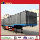cargaison en bloc de 3axles 60ton Van Trailer pour le transport