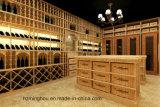 O gabinete residencial do vinho personaliza a adega de vinho para a mobília Home de madeira
