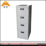 Governo di archivio verticale di memoria dell'ufficio del cassetto dell'acciaio quattro della mobilia moderna del metallo