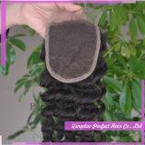 Chiusura brasiliana dei capelli con le chiusure naturali dei capelli del merletto della parte dei capelli del bambino