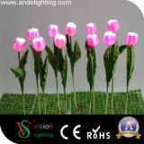Lumière matérielle de tulipe de l'unité centrale DEL de décoration de jardin