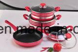 Non-Stick Coated алюминиевые баки и сковороды для Cookware установленного Sx-T008