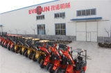 CE Approved Compact Shovel Loader d'Everun avec Sweeper