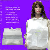 MedicalまたはHospital/PP+PE/PP/SMS/Polypropene防水Nonwoven/Plastic/Polyethylene/Poly/HDPE/LDPE/PVC DisposableのPE Apron、Disposable PE+Tissue Paper Dental Bib