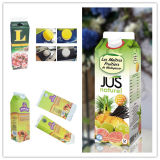 Jugo fresco aséptica Gable Top Carton