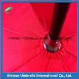 赤いカラーPUによって塗られるハンドルのまっすぐに自動開いた結婚式のダンスの傘
