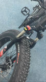 E-Bici gorda de la nieve con la batería del tubo de 750W 48V 12ah abajo