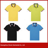 Guangzhou Factory en gros T-Shirts Polyester Polyester Unisexe Polo Pas Cher pour Hommes (P124)