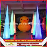 Nueva decoración Finished del partido que enciende el cono inflable barato en venta