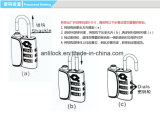 Cadeado de Tsa, fechamento de alfândega dos EUA, cadeado da combinação, cadeado da liga do zinco, Tsa12068
