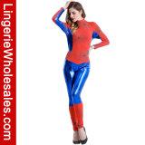 Costume Cosplay Catsuit девушки спайдера причудливый платья партии Halloween женщин сексуальный