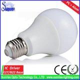 Luz de bulbo incandescente de A60 E27 Edison 9W LED