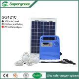СИД печатает домашнему DC набора 3W освещения солнечную электрическую систему на машинке